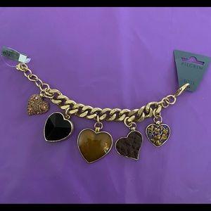 Pilgrim Chunky Heart Charm Bracelet